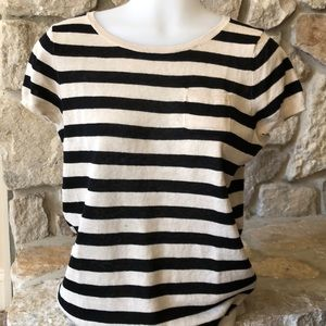 NWOT short sleeve striped sweater